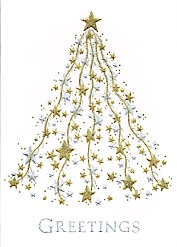 gold and silver star tree